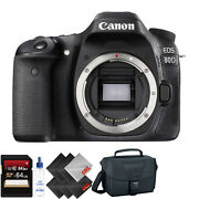 Canon Eos 80d Dslr Camera Body Only + 64gb Memory Card + 1 Year Warranty