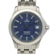 Omega Seamaster Automatic Chronometer Stainless Steel Blue Men's Watch [u0831]