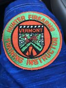 Vermont Hunter Firearms Training Instructor Fish Game Deer 4 Patch Dnr Rare Vtg