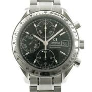 Omega Speedmaster Automatic Stainless Steel Silver Black Dial Menand039s Watch[u0831]