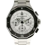 Baume And Mercier Riviera Diver Moa08724 Automatic Stainless Menand039s Watch [u0831]
