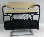 2 In 1 Tan Seat Kit Combo And Golf Bag Carrier For Ezgo Txt Golf Carts