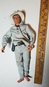 Vintage 1973 Gabriel 10-inch Lone Ranger Figure With Holster And Revolvers