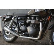 Dandd 553-25m Full System Pipe Faux-ti For Bonneville Triumph And Thruxton