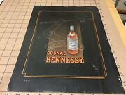 Vintage 1949 French Ad 11 X 15 -- Cognac Hennessy And Air France Atelier Perceval