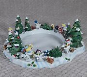 Partylite Snowbell 3-wick Snowman Trees Candle Holder Christmas - P7870