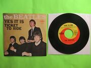 The Beatles Ticket To Ride 45 7 Pic Picture Sleeve Rare