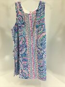 Lilly Pulitzer Womens Donna Romper Happy As A Clam Size 6 Multicolor Nwt