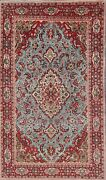 Semi-antique Traditional Floral Oriental Area Rug Hand-knotted Wool Carpet 4x7