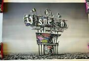 Ruined Sign Roamcouch Gillette Print Poster Not Disney Castle Wdw Dismaland