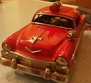 Minicar Line Mar Made Of Tin Vintage Toys Showa Retro Color Red Made In Japan