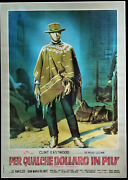 For A Few Dollars More Oirignal Italian 1 Sheet Linen Backed Rare Style Eastwood