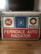 Vintage Ac Delco Sign 4x6ft Huge And Rare