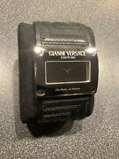 Rare Gianni Versace Mens Couture Mirror Face Watch