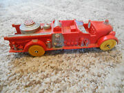 Old Vintage Toy Auburn F.d. 2 500 Rubber Usa 3 Fire Department Truck Red Yellow