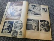 Old Vintage Or Antique Scrapbook Celebrities Movie Stars Clippings Actresses Etc