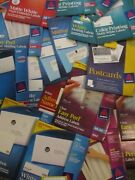 Large Mixed Lot Packages Avery Sticker Peel Labels Mailing Address Ink Jet Laser