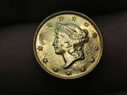 1851 C 1 Gold Liberty Head One Dollar Coin- Vf Details Rare Charlotte Coin