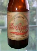 Rare Ss Paper Label Amber  Dr. Pepper Bottle  Rock Island, Ill  Nice