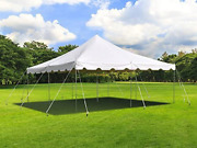 Tent And Table 20 Foot X 20 Foot Weekender Canopy Pole Tent | White | Indoor And