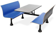 Ofm Core Collection Retro Bench Table With End Support 24 Stainless Steel Top