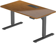 Bamboo Standing Desk Electric Adjustable Height 72x30. Large Stand Up Motoriz