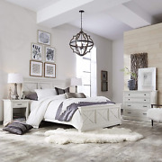 Seaside Lodge White Queen Bed Night Stand And Chest By Home Styles