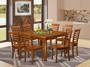9 Pc Formal Dining Room Set-kitchen Table With Leaf And 8 Dinette Chairs.