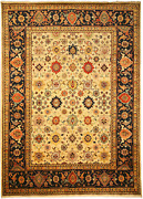 Eorc Sht19iv Hand Knotted Wool Super Mahal Rug 9-feet By 12-feet Ivory