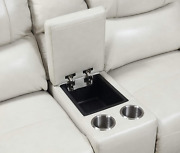 Steve Silver Laurel Ivory Leather Power Reclining Console Loveseat