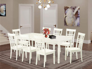 5 Pc Kitchen Tables And Chair Set With A Dining Table And 8 Kitchen Chairs In Li