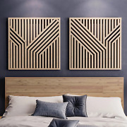 Other Furniture Abstract Wood Wall Art Set- Modern Geometric Wooden Wall Hanging