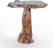 Genuine Teak Wood Slab Bar Table Rustic And Unique Made By Chic Teak From Soli