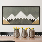 Other Furniture Mount Blanca- Wood Panel Wall Art- Rustic Wood Wall Hanging