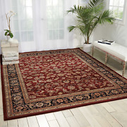 Nourison Nourison 2000 2002 Burgundy Rectangle Area Rug 5-feet 6-inches By 8-