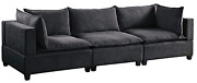 Bowery Hill Fabric Down Feather Sofa Couch In Dark Gray