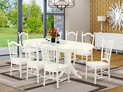 9 Pc Kitchen Set For 8 Dining Table With Leaf And Eight Wood Seat Kitchen Dining