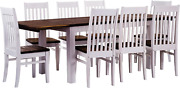 B.r.a.s.i.l.-möbel Tablechamp Dining Table Set Rio Eight Pine Chairs With Extens