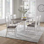 7 Piece Solid Maple Wood Dining Room Set   Full Kitchen Table Set With Table And