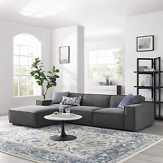 Modway Restore 4-piece Upholstered Sectional Sofa In Charcoal