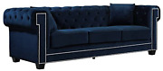 Meridian Furniture Bowery Collection Modern   Contemporary Button Tufted Velvet