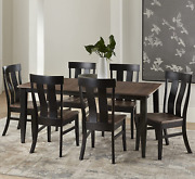 7 Piece Solid Wood Dining Room Set   38x64 Inch Farmhouse Kitchen Table With 6 C