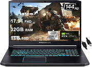 Acer Flagship Predator Helios 300 Gaming Laptop 17.3andrdquo Fhd 144hz Ips Display 10th