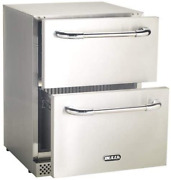 Bull Outdoor Products 17400 Double Drawer Outdoor Rated Refrigerator Stainless