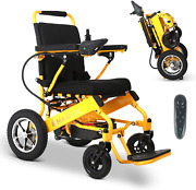2021 Updated Lightweight Electric Wheelchair - Remote Control Electric Wheelchai