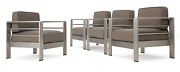 Christopher Knight Home 300618 Cape Coral Outdoor Aluminum Club Chairs With Wate