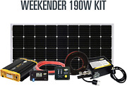 Go Power Weekender Isw Complete Solar And Inverter System With 190 Watts Of Sol