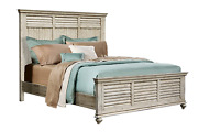 Sunset Trading Shades Of Sand King Bed, Antique White