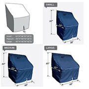 1pc Waterproof Heavy Duty Boat Center Console Cover Fits Up 46wx40dx45h Navy