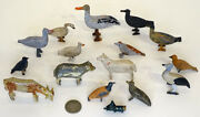 1800and039s Antique Folk Art Wooden Toy Animals For Noahand039s Ark With Original Paint